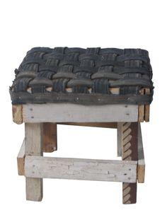 Krukje sloophout fietsband klein #innertube stool