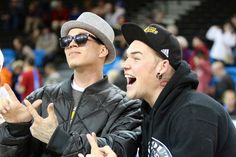 Chris Rene and James Durbin muck it up for the cameras!