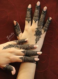 Finger Henna Designs, Henna Art Designs, Mehndi Designs For Girls, Modern Mehndi Designs, Mehndi Design Pictures, Wedding Mehndi Designs, Mehndi Designs For Fingers, Beautiful Henna Designs, Latest Mehndi Designs