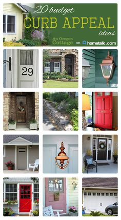 Great budget friendly ways to increase your curb appeal!