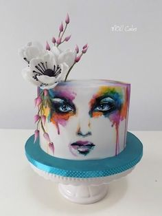Colors from MOLI Cakes # Watercolor cake Colours by MOLI Cakes 25 Source by mcdowell Pretty Cakes, Beautiful Cakes, Amazing Cakes, Crazy Cakes, Fancy Cakes, Cupcakes, Cupcake Cakes, Bolo Russo, Airbrush Cake