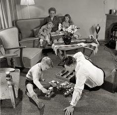 Hollands gezin in de jaren vijftig