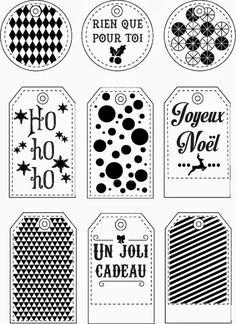 étiquettes cadeaux à imprimer