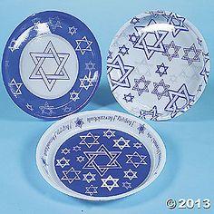 Plastic party Hanukkah Plates