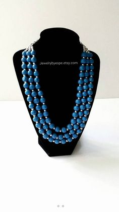 Hey, I found this really awesome Etsy listing at https://www.etsy.com/listing/265274745/royal-blue-necklacenavy-blue