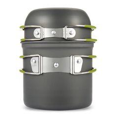 캠핑 조리기구 높은 품질 1 개 냄비 전문 배낭 식기 냄비 팬 경량 야외 하이킹 캠핑 피크닉