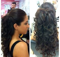 Half up updo for prom
