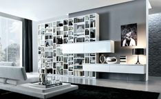 Stunning Contemporary Living Rooms By Misuraemme: Modern Living Room Photo 17: White Grey Contemporary Living Spaces   iHomee