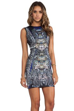 Clover Canyon Russian Enamel Neoprene Dress in Multi   REVOLVE