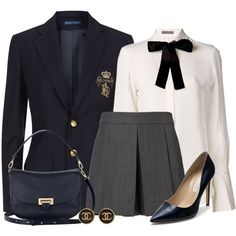 A fashion look from November 2014 featuring white blouse, sports jacket and Alexander Wang. Browse and shop related looks. Workwear Fashion, Kpop Fashion Outfits, Girls Fashion Clothes, Stage Outfits, Mode Outfits, Winter Shorts Outfits, Cute Casual Outfits, Short Outfits, Chic Outfits