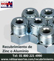 Recubrimiento de metales con Zinc o Aluminio, proteja a sus metales de la corrosión http://www.rehisaresortes.com/recubrimiento/