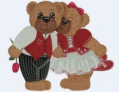 Treasure Bears 2 Machine Embroidery by BettysOriginalEmb on Etsy, $6.99