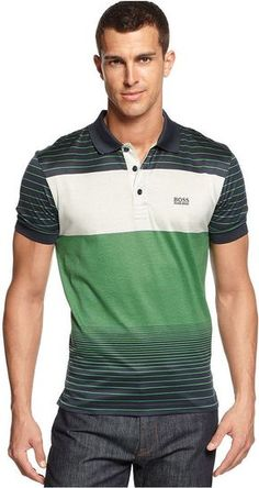 Hugo Boss Polo Shirt, Paddy Polo Polo Shirt Style, Mens Polo T Shirts, Green Polo Shirts, Tee Shirts, Hugo Boss, Men's Fashion, Fashion Trends, Knit Shirt, Swagg