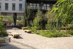 Open Spaces in Residential Development in Boulogne Billancourt by Mutabilis « Landscape Architecture Works | Landezine #residentiallandscapearchitecture