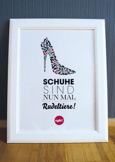 Originaldruck - Druck ♥Schuhe sind Rudeltiere♥ - ein Designerstück von Formart-Zeit-fuer-schoenes bei DaWanda