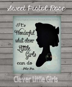 Clever Little Girls Poster : Modern Typography Art Wall Decor Print 8 x 10 | INSTANT Digital Download Printable