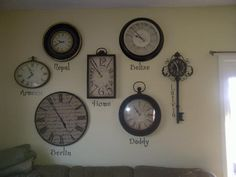 My International Clock Gallery  @Janell Rau love this idea for you