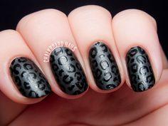 Fierce Feline - Satin vs. Glossy Leopard Print Nail Art by @chalkboardnails