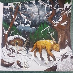 I imagined Tamlin bigger, like a bear. And standing on two feet, for some reason. Like a giant bear-wolf. But this drawing is amazing anyway.