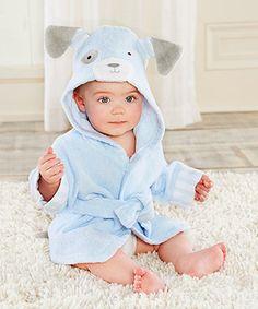 Another great find on #zulily! Blue Puppy Robe #zulilyfinds