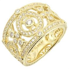 Judith Ripka 'Garland' Pave Ring   SKU# 14456   Retail Value of: $4,200.00