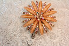 Rhinestone  nurse jewelry  badge bling  by DefinitelyYou on Etsy