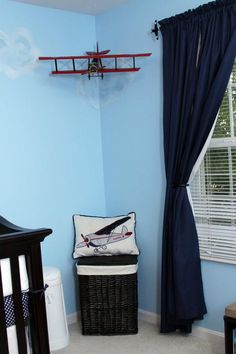Vintage Aviation Boy Nursery