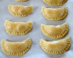 Easy recipe for sweet empanada dough - includes step by step photos. This sweet pastry dough for dessert empanadas can be made using a food processor. Köstliche Desserts, Delicious Desserts, Dessert Recipes, Sweet Empanada Dough Recipe, Recipe For Turnover Dough, Sweet Tart Dough Recipe, Dessert Empanadas Recipe, Pastry Dough Recipe, Pastries