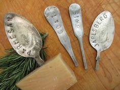 DIY: Silverware Cheese Markers