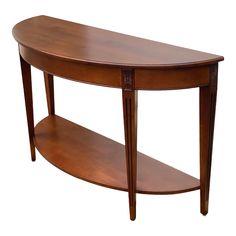Ethan Allen Demilune Sofa Table | Chairish