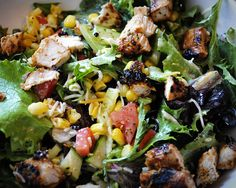 Two Crazy Cupcakes: Honey Lime Cilantro Grilled Chicken Salad