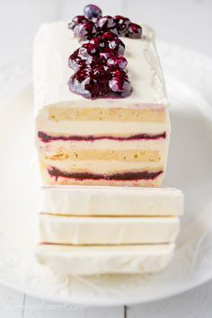 Blueberry-Lemon Icebox Cake - layered with pound cake, lemon mascarpone cream, and an amazing fresh blueberry sauce!