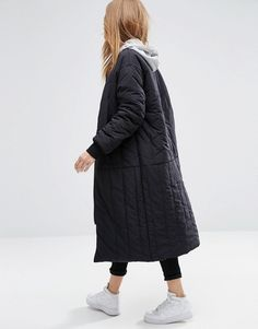 Image 2 of ASOS Longline Reversible Padded Jacket
