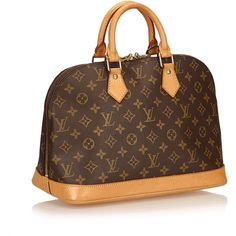 Louis Vuitton Monogram Alma Pm Satchel (€575) ❤ liked on Polyvore featuring bags, handbags, monogrammed purses, louis vuitton satchel, louis vuitton bags, satchel handbags and louis vuitton handbags