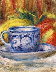 Cup and Fruit ~ Pierre Auguste Renoir