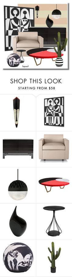 """""""the guest cactus"""" by topcoatballet ❤ liked on Polyvore featuring interior, interiors, interior design, home, home decor, interior decorating, Designers Guild, NOVICA, Akira and Herman Miller"""