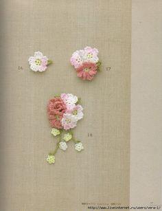 Crochet Knitting Handicraft: Mini flowers