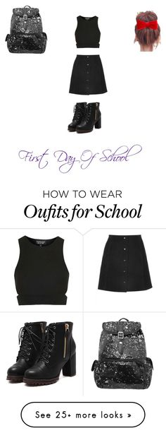 """""""First day of school"""" by taraejackson45 on Polyvore featuring Topshop and claire's"""