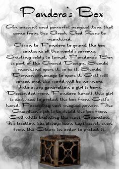 Pandora's box BOS Pandora Box, Pandoran Perversion, Pandora Boxes, Boxes Bos .