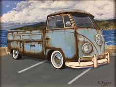 Rusted VW Single Cab 11X14 Oil on canvas panel #ronayresfineart #lukasfarben #oilonpanel #oilpainter #oilpainting #realism #vw #vwsplitscreen #vwsinglecab #pacificgrove #montereybay #patina #droppedvw #oilpandragging #rustystuff #rustyvw #westcoastvws #montereybaylocals - posted by Ron Ayres https://www.instagram.com/ronayresfineart - See more of Monterey Bay at http://montereybaylocals.com