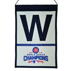"Chicago Cubs 2016 World Series Champions 12"" x 18"" W Banner"