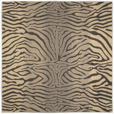 Terrace Charcoal Zebra Indoor/Outdoor Rug