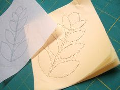 Great totorial by Flourishing Palms for creating easy stencil templates using Golden Threads Paper.  I used this technique for years, with tissue paper (gift wrapping), but admit the Golden Threads paper is much better.    Flourishing Palms: Free Motion Defined