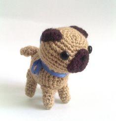 Ravelry: Cute Pug Amigurumi pattern by Marie Reciné ADORABLE!!!!!