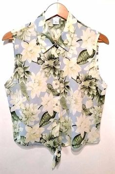 Women's Judith Hart size 12 sleeveless button down blouse  #JudithHart #Blouse #Casual