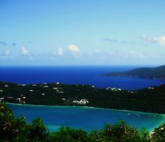 Mountain Top looking over Megan's Bay <> St.Thomas Eastern Caribbean...