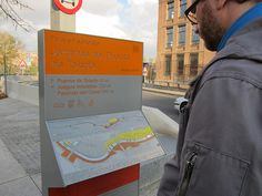 All sizes | Wayfinding, Madrid Rio, via Flickr.