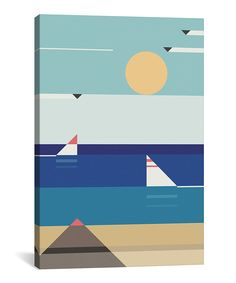 Quiet Sea Giclée Wrapped Canvas
