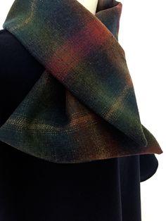 cape femme col croisé noeud laine cachemire liberty mode marine carreaux hiver couture création