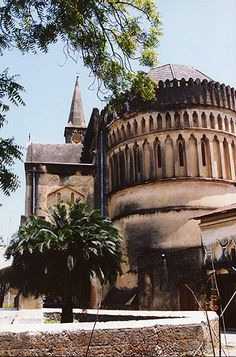 Stone Town, Zanzibar, Oldest church on the island - where the slaves were held before being sold to America All About Africa, Stone Town, Place Of Worship, Beautiful Buildings, Places Around The World, Tanzania, Dream Vacations, Travel Photos, Places To Visit